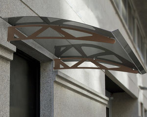 marquesina de entrada / de policarbonato / de arco / prefabricada