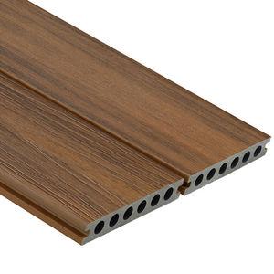 tarimas de exterior de madera compuesta / aspecto madera / ranuradas / con clip