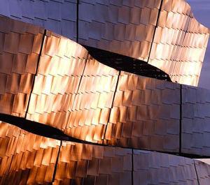 fachaleta acero inoxidable / de acero galvanizado / para fachada / interior