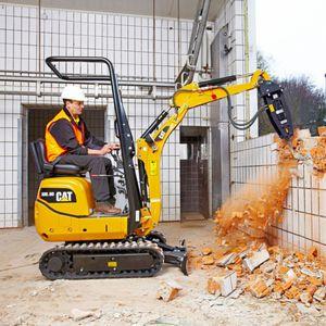 excavadora mini / con orugas / de demolición / para obra