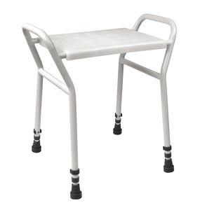 taburete de ducha de plástico / para centro sanitario / para personas con movilidad reducida / blanco