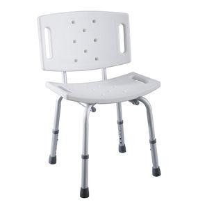 taburete de ducha de plástico / de aluminio / para centro sanitario / para personas con movilidad reducida