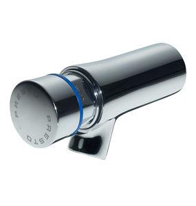 grifo para lavabo / de pared / de latón cromado / con temporizador