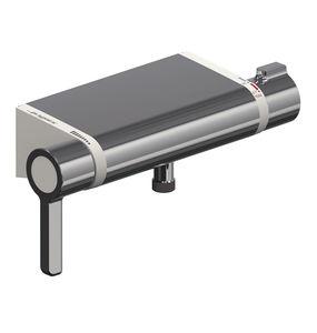 grifo mezclador para ducha / de pared / de metal cromado / termostático