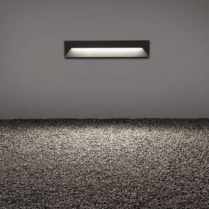 luminaria empotrable de pared / LED / lineal / cuadrada