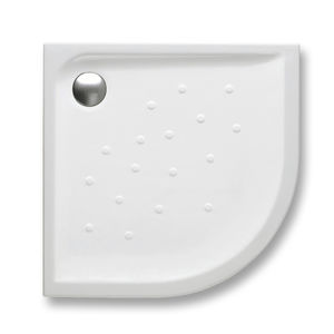 plato de ducha de esquina / independiente / de porcelana / extraplano