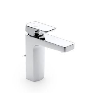 grifo monomando para lavabo / en encimera / integrado / de metal cromado