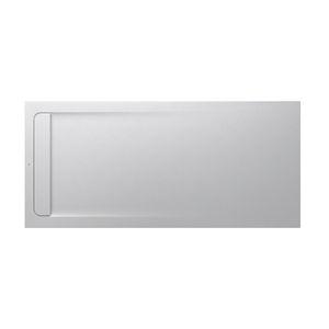 plato de ducha rectangular / de piedra / antideslizante / extraplano