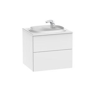 mueble de lavabo suspendido / de aglomerado / contemporáneo / con cajones