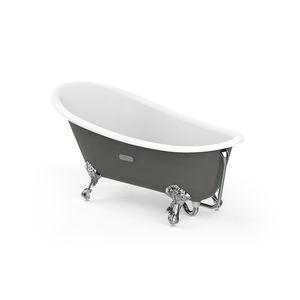 bañera con patas / ovalada / de hierro fundido