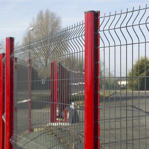 valla para espacio público / para la industria / con paneles / de acero galvanizado