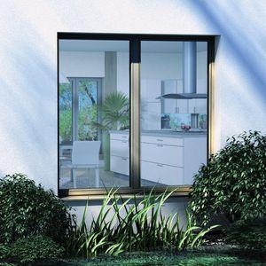 ventana oscilobatiente / de aluminio / con vidrio triple / con aislamiento térmico