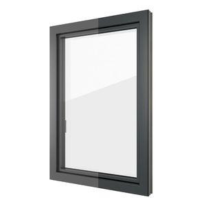 ventana abatible / de aluminio / de PVC / con vidrio triple