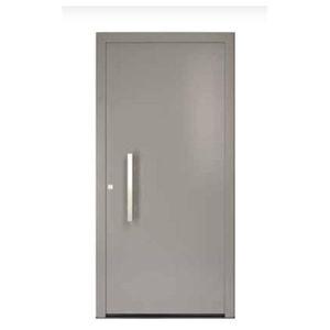 puerta de entrada / abatible / de aluminio / de PVC