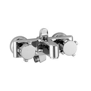 grifo monomando para ducha / de bañera / de pared / de metal cromado