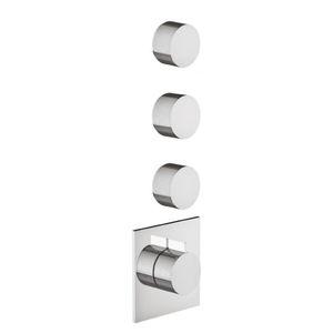 grifo monomando para ducha / encastrable / de latón / termostático