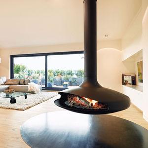 chimenea de leña / de gas / contemporánea / hogar abierto