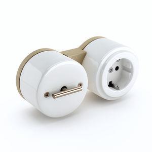 interruptor rotativo / superficial / de metal / contemporáneo