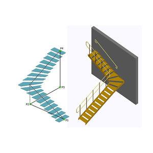 programa de diseño / de modelado / para estructura de acero / para escalera