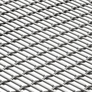 malla metálica para fachada / para pantalla solar / para muro / de acero inoxidable