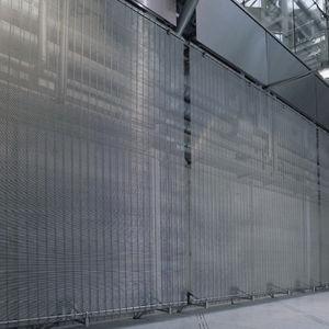 panel decorativo de malla metálica / para interiores / aspecto metal / transparente