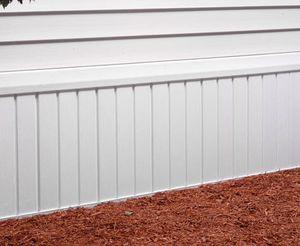 moldura de vinilo / rectangular / aspecto madera / para exterior