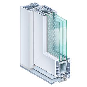 perfil para puerta de acero / de PVC / con aislamiento térmico