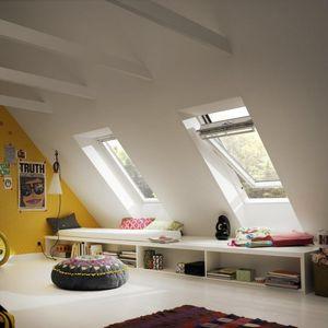 ventana de tejado pivotante con eje central