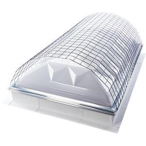 claraboya tipo domo para iluminación de vidrio