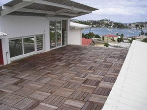 losa de pavimento de madera / para terraza