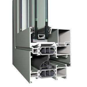 perfil de ventana de aluminio / con aislamiento térmico / antiintrusión / ignífugo