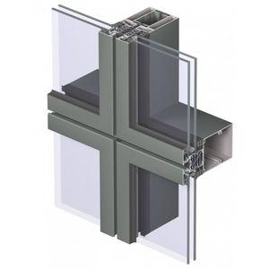 muro cortina VEP / de aluminio y vidrio