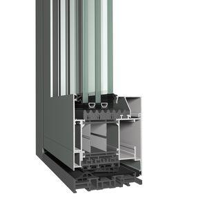 perfil para puerta de aluminio / de corte térmico / acústico / a prueba de viento