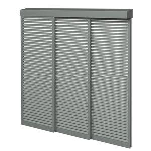 celosía con lamas de aluminio / para fachada / deslizante