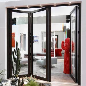 puerta de interior / plegable / de aluminio / de corte térmico