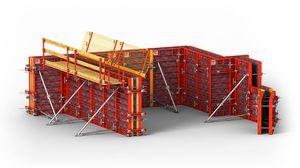 encofrado marco / modular / de metal / para muro