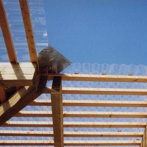plancha de policarbonato ondulada / para techado / para fachada / para invernadero
