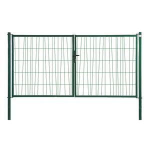 portones abatibles / de acero galvanizado / enrejados / para uso residencial