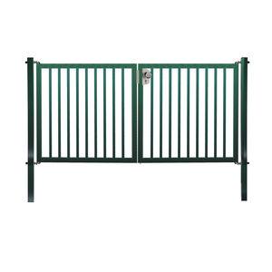 portones abatibles / de acero galvanizado / de barras / para parques infantiles