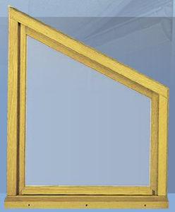 ventana abatible / de madera / poligonal