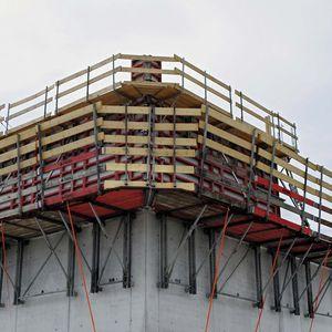 andamio de acero galvanizado / de madera