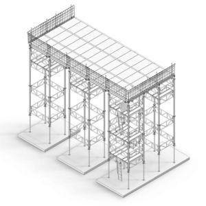apuntalamiento de acero / de encofrado modulares