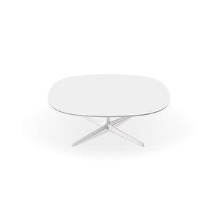 mesa de centro contemporánea / de MDF / de aluminio / redonda