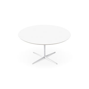 mesa de comedor contemporánea / de MDF / de aluminio / redonda