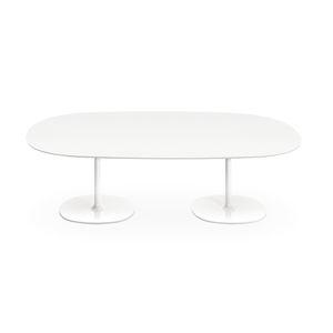 mesa de reuniones contemporánea / de MDF / de acero cromado / de acero lacado