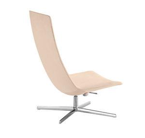 sillón contemporáneo / de tejido / de cuero / de aluminio