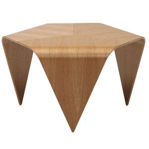 mesa de centro contemporánea / de roble / de nogal / de madera lacada