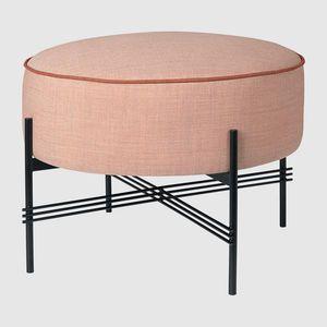 puf contemporáneo / de tejido / redondo / rectangular