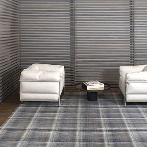 alfombra contemporánea / de rayas / multicolor / de fibras sintéticas