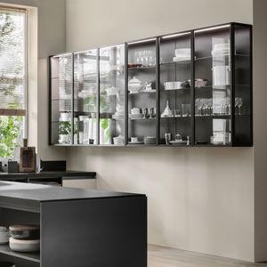vitrina aparador contemporánea / de vidrio / aluminio